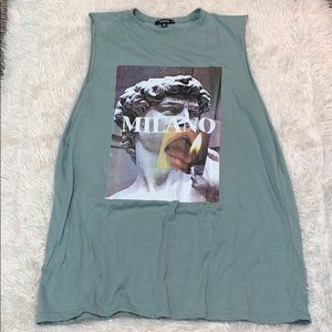 TRENDY MISSGUIDED MUSCLE TEE DRESS
